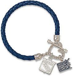 LogoArt New York Rangers Hockey Fights Cancer Women's Charm Bracelet