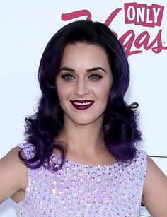 Katy Perry is loving herself some purple