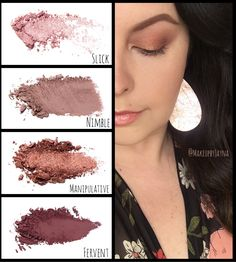 """Rose gold vibes Younique customizable Eyeshadow palette : Slick, Nimble, Manipulative, and Fervent Lips: """"Special"""" Splash liquid lipstick Rose Gold Eyeshadow, Rose Gold Makeup, Rose Lipstick, Liquid Eyeshadow, Prom Makeup For Brown Eyes, Prom Makeup Looks, Eyeshadow For Brown Eyes, Eyeshadow Looks, Younique Eyeshadow Palette"""