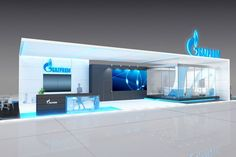The company Gazprom exhibition stand design. on Behance