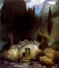 The Tomb of Arnold Böcklin, Ferdinand Keller.