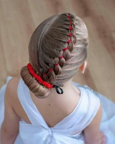 Princess Hairstyles, Fancy Hairstyles, Little Girl Hairstyles, Braided Hairstyles, Hair Due, One Hair, Peinado Updo, Ariel Hair, Gymnastics Hair