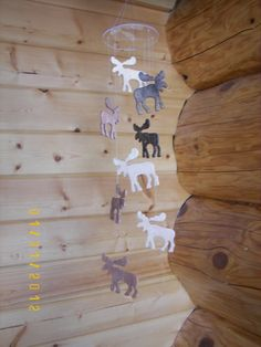 Wooden Moose Mobile by MobileMadness on Etsy