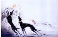 Louis Icart- Coursing II