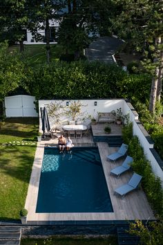 Patio, Backyard, Small Swimming Pools, Pool Houses, House Plans, New Homes, Home And Garden, Exterior, House Design