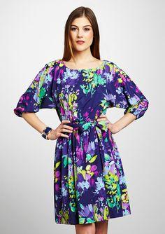 ELIZA J  Floral Print Dolman Sleeve Dress