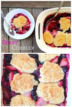 "Hehe. I mistakenly wrote the title of this post ""Berry Coobler"" and I can't stop laughing. I need to get a life, apparently. Anyways you all are probably thinking this recipe is a little out of place. Berry cobbler when it's smack dab in the middle of fall? Let me explain. I made this with...Read More »"
