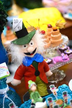 Mad Hatter doll decorations!
