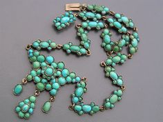 Antique Victorian 9ct Gold Persian Turquoise Pendant Necklace