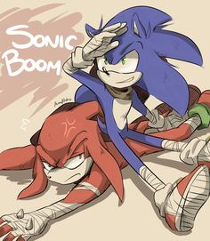 Sonic and Knuckles by AimyNeko