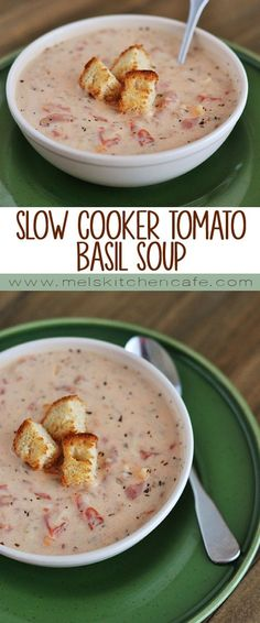 This slow cooker tomato basil soup has a big cut in calories from the typical recipes with stellar results!