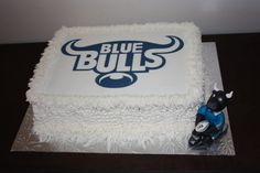 Blue Bulls Buttercream Cake - www.suikerbekkie.co.za