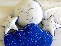 Moon, Stars and Night Sky Pillows #pinparty #madeinusa #munire