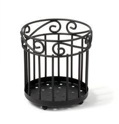 Spectrum 55810 Scroll Grande Utensil Holder, Black - ..... I use it for all my brushes and combs., make-up brushes