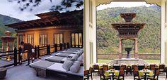 Amazing tablet hotel in Bhutan