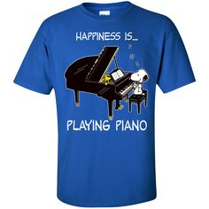 Snoopy - Happiness is playing piano – teesunny