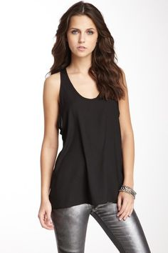 Back Cutout Tank by Maison Blanche on @HauteLook