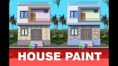 Front Elevation Designs, House Elevation, Exterior Color Combinations, Exterior Colors, Village House Design, Village Houses, Modern Small House Design, House Painting, Latest Fashion