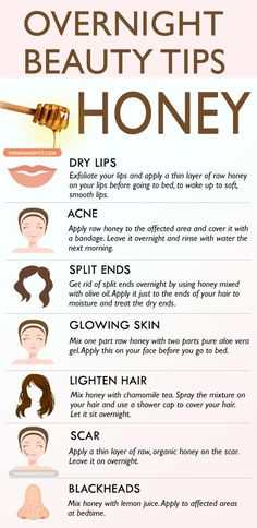 Honey can be used in many different ways to treat your skin and hair, so here are few ways to use honey in an overnight beauty treatment. Use honey in your beauty regime for a healthy, glowing skin as well as beautiful hair. Honey is very moisturizing and skin soothing therefore honey will keep the skin … *** Learn more by visiting the image link.