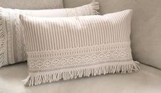 Items similar to Ticking Stripe Beige Fringed Lace Pillow Cover Decorative Pillow Cover Farmhouse Decor on Etsy Decorative Cushions, Decorative Pillow Covers, Baby Pillows, Throw Pillows, Burlap Pillows, Bed Cover Design, Ticking Stripe, Sewing Pillows, Deco Table