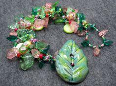 Beaded Bracelet  The Leaf Series  Spring II by by randomcreative, $35.00