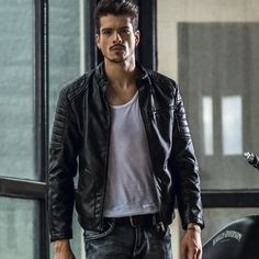 Výsledek obrázku pro leather jacket style men