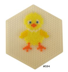 Easter chicken hama beads pattern – HAMA www. Melty Bead Patterns, Pearler Bead Patterns, Perler Patterns, Beading Patterns, Perler Bead Designs, Hama Beads Design, Motifs Perler, Peler Beads, Iron Beads