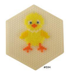 Easter chicken hama perler pattern - HAMA