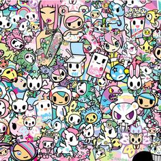Here's a detail of the kawaii pattern used on the new SPRING DREAMS Bag Collection! 💓🌼💓 Some of your favorite tokidoki characters including Donutella, Mozzarella and more are featured in delicate. Illustrations, Illustration Art, Otaku, Hello Kitty Wallpaper, Character Wallpaper, Kawaii Drawings, Manga Drawing, Clipart, Doodle Art