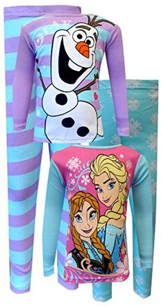 Disney Frozen Anna, Elsa and Olaf 4 Piece Pajama Set for girls (4) WebUndies http://www.amazon.com/dp/B00N9673ES/ref=cm_sw_r_pi_dp_JDVgub1AF33WA