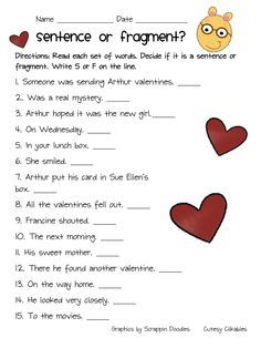 Math Worksheets Ks1 Word Complete Sentence Or Fragment Week  Great Activity To Get The  Division Worksheets For 3rd Grade Word with Letter I Worksheets Pdf Arthur Freebie Sentence Or Fragment Orbital Diagram Worksheet Pdf