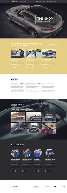 Car Tuning & Care #WordPress #template. #themes #business #responsive