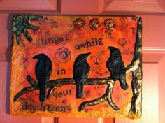 """Mixed Media, """"Linger Awhile in Your Daydream"""""""
