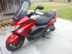 2010 Kymco EXCITING 500 EFI Scooter , Red, 900 miles for sale in Billings, MT