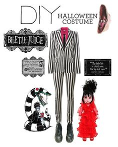 """""""DIY Halloween Costume"""" by webstery ❤ liked on Polyvore featuring Yves Saint Laurent, Uniqlo, Dolce&Gabbana, Rubie's Costume Co., Deetz, Humör and diycostume"""