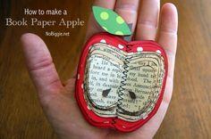DIY book paper apple - NoBiggie.net