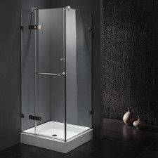 small corner shower kit. 3 Piece Corner Frameless Shower Enclosure In Stainless  Shower Enclosure And Delta 36 X 76