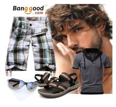 """""""2#Banggood"""" by fatimka-becirovic ❤ liked on Polyvore featuring men's fashion and menswear"""