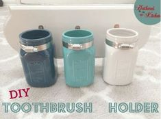 diy mason jar toothbrush holder, craft rooms, mason jars, organizing, small bathroom ideas