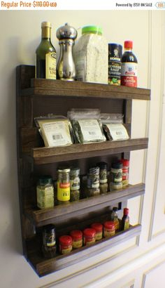 Wall Mounted Spice Rack stainless steel kitchen spice shelf rack kitchen organizer wall