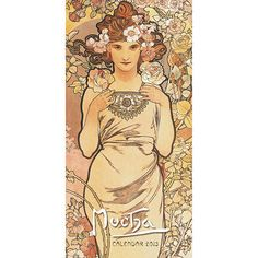Mucha Vertical Wall Calendar: The work of Alphonse Mucha (1860 – 1939), a Moravian artist who trained in Paris, is said to epitomize Art Nouveau. He has become best known for his poster designs, but Mucha was an accomplished artist and designer who also created interiors and designed jewelry, carpets and fabrics.  $8.95  http://calendars.com/Assorted-Fine-Art/Mucha-2013-Vertical-Wall-Calendar/prod201300000870/?categoryId=cat00016=cat00016#