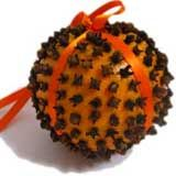 Orange Clove Christmas Ball; hang in any room for an amazing Christmassy smell!