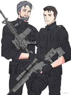 Detroit become human Connor and Hank By: illusmono.tumblr.com