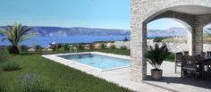Klassisches Mediterranes Doppelhaus