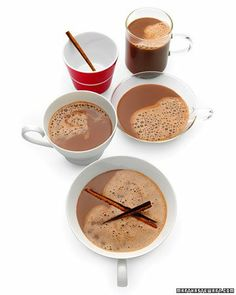Hot Cocoa with Almond Milk -This dairy-free take on a classic compromises nothing in taste and can be made with any soy, rice, or nut milk.