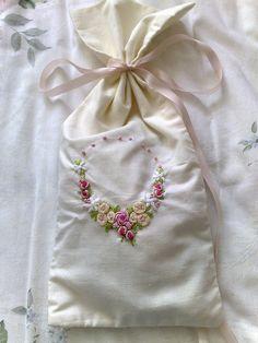 Bullion stitch embroidered roses