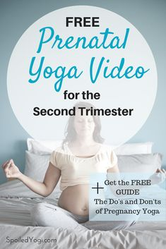 Best Yoga Poses for the Second Trimester - This prenatal yoga practice is geared toward the second trimester of pregnancy. It will help ease y - Trimesters Of Pregnancy, Pregnancy Workout, Pregnancy Info, Pregnancy Cartoon, Pregnancy Timeline, Pregnancy Belly, Pregnancy Gifts, Pregnancy Humor, Pregnancy Fashion