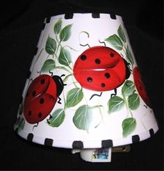 For your Ladybug theme...night light is hand painted and ever so cute!