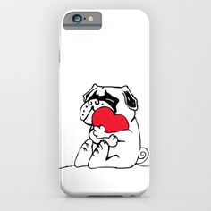 Pug Heart iPhone & iPod Case