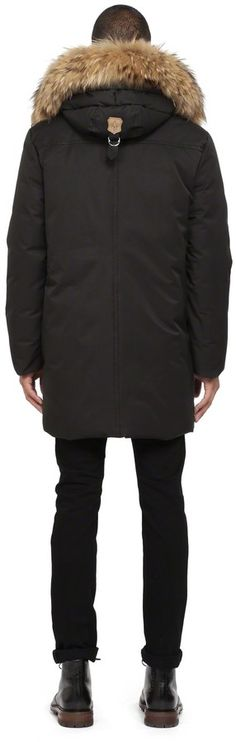 Mackage Etienne F4 Black Winter Down Parka With Fur Hood Mens Parka Coats aa9ca3591f7f